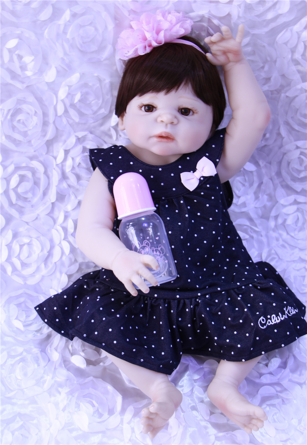 Bebes Reborn bébé réaliste Silicone Reborn poupées 22 pouces/55 cm, nouveauté réaliste bébé Reborn jouets pour cadeau d'enfant