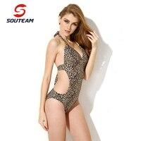SOUTEAM 2016 Summer Women One Piece Swimsuit Sexy Brazilian Swimming One Piece Beach Swimwear Bathing Suit