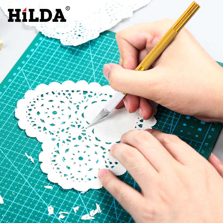 HILDA 1 шт. скользящий металлический нож для скальпеля набор инструментов Резак гравюра ножи + 5 шт. лезвия мобильный телефон PCB DIY ремонт ручные инструменты