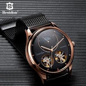 Image 1 - Bestdon メンズ腕時計自動機械式トゥールビヨンスケルトンのファッションは、男性スイス高級ブランドレロジオ masculino 7140