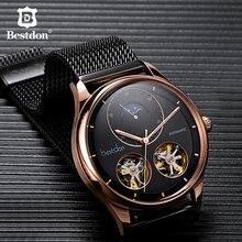 Bestdon montre automatique avec squelette, modèle à Tourbillon, pour hommes, suisse, marque de luxe, montre pour hommes