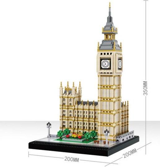 3600PCS Famosa serie architettonica di Londra Big Ben per assemblare blocchi di Blocchi di Costruzione di Mattoni Compatibile Con tutte le marche