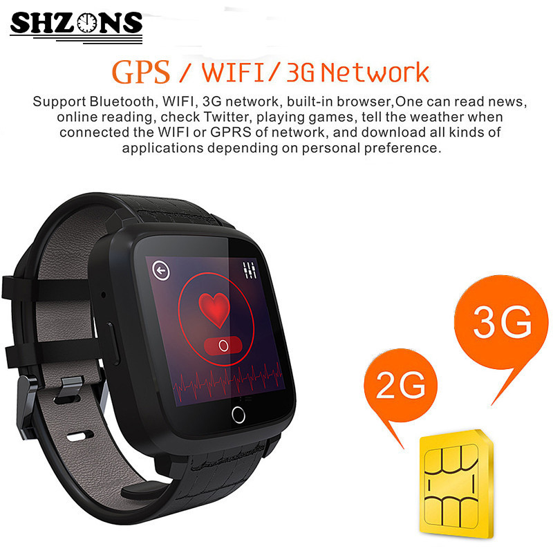 3G Smartwatch MTK6580 Quad Core GPS WIFI 8GB MIC Heart Rate Monitor Camera for Android IOS Sport Watch Phone Activity Tracker wifi bluetooth watch phone android 5 1 os 3g wcdma 1gb 8gb gps heart rate monitor sport pedometer with 2mp camera gold silver