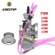 ZSDTRP PWM 34 36 38 40 42mm For Keihin Carburetor Universal Shift Karts 2T Racing Motorcycle Scooter ATV KTM 250CC Carburador