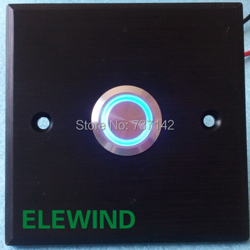 ELEWIND 22mm door bell push button(PM221F-11E/B/12V/S with black aluminium plate) elewind 22mm black aluminum ring illuminated momentary push button switch pm221f 11e g 12v a