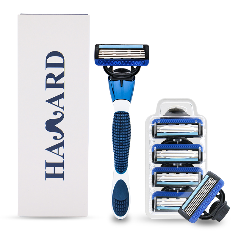 HAWARD 20 Cartridges 5 Blade Replacement Razor Head Gift Razor Handle Used For Men's Shaving and Women's Hair Removal