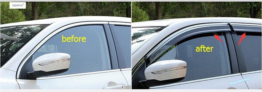 Accessoires Lapetus pour Nissan Qashqai J11 2014-2018 pare-brise stores pare-pluie ensoleillé pare-soleil garde garniture Kit de Protection