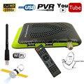 N/S Америки Видео HD DVB-S2 Цифровой Спутниковый Ресивер + Youtube 1080 P AV Set Top Box Поддержка Cccam ИКС Gscam Питания Vu USB Wif
