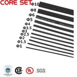 11 Meters/set tube thermorétractable 1mm 1.5mm 2mm 2.5mm 3mm 3.5mm 4mm 5mm 6mm 8mm 10mm noir manchon de câble assortiment kit de fil d'enveloppe