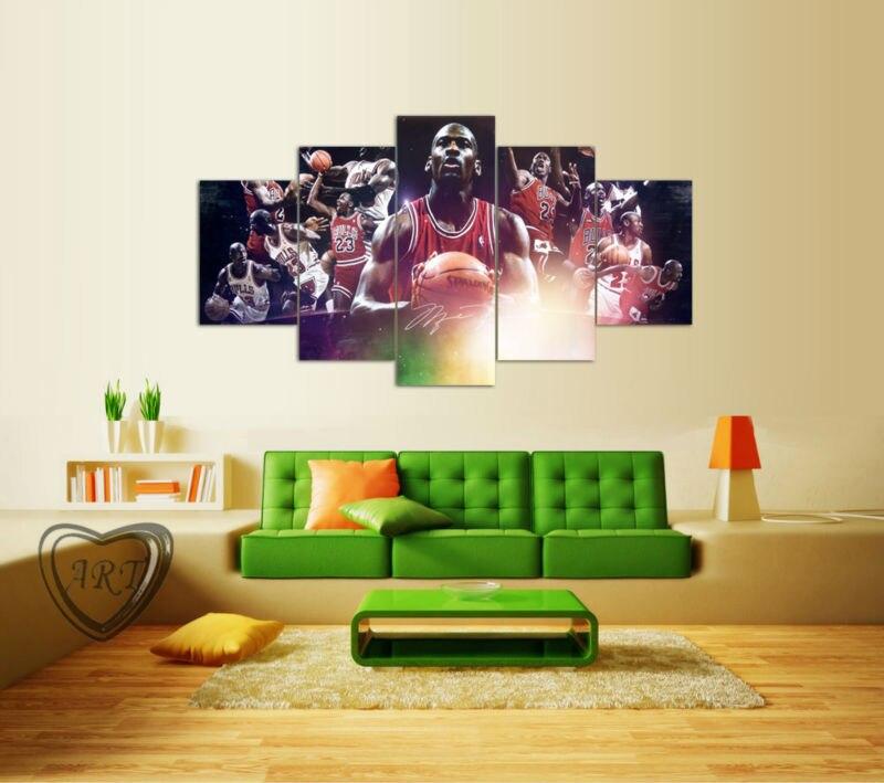 Michael Jordan Star Poster Wall Art Pictures For Living Room ...