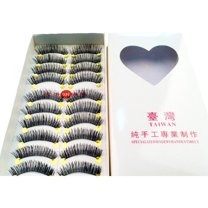 40pairs High Quality Black Eyelashes Thick Long False Eyelashes Full Strip Eyelash Extensions Fake Eye Lashes Mink Eyelashes