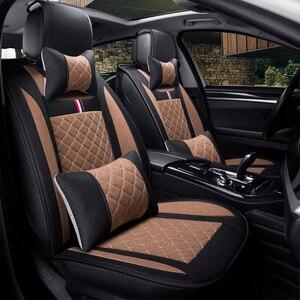 Image 2 - Leinen auto sitz deckt den gesamten sommer kissen paket die neue vier jahreszeiten universal auto sitz abdeckung tuch sitzt set spezielle cush