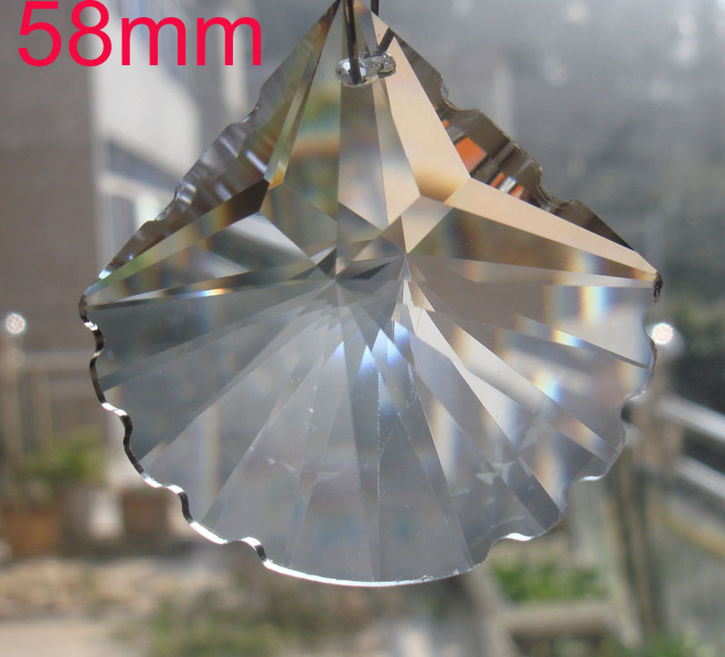 612pcs/lot 58mm Crystal chandelier parts Crystal Lamp Chandelier Prism mussel home and h ...