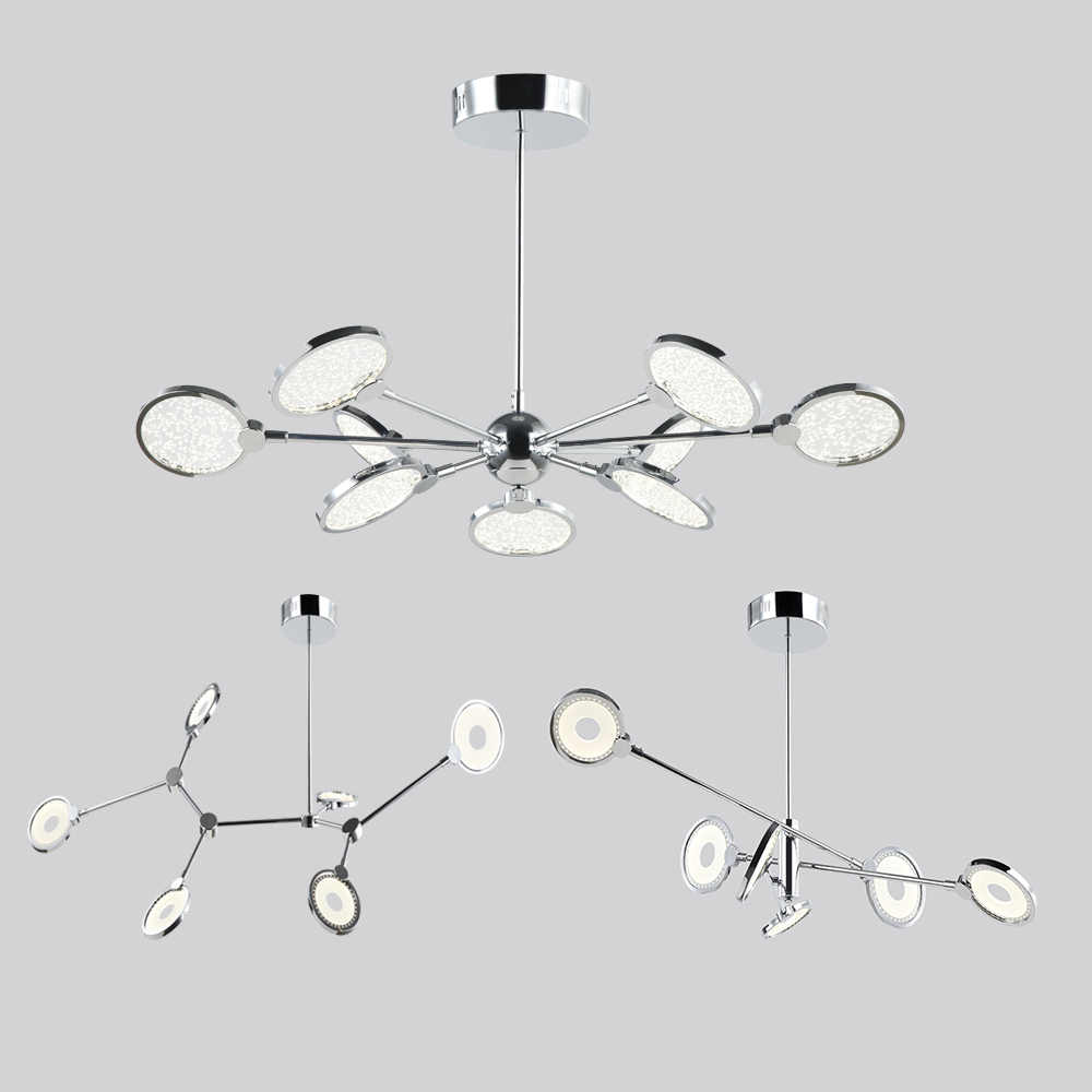 modern Multiple Rod Ceiling Light Wrought Iron Personality Store Restaurant Nordic ceiling hanging Lighting Pendent Lamp