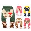 Minnie Mouse Del Bebé Polainas De Las Muchachas Amo Mama Papa Bebé PP pantalones Niñas niños Pantalones de Los PP Del Bebé Niños Ropa de Bebé Pantalones