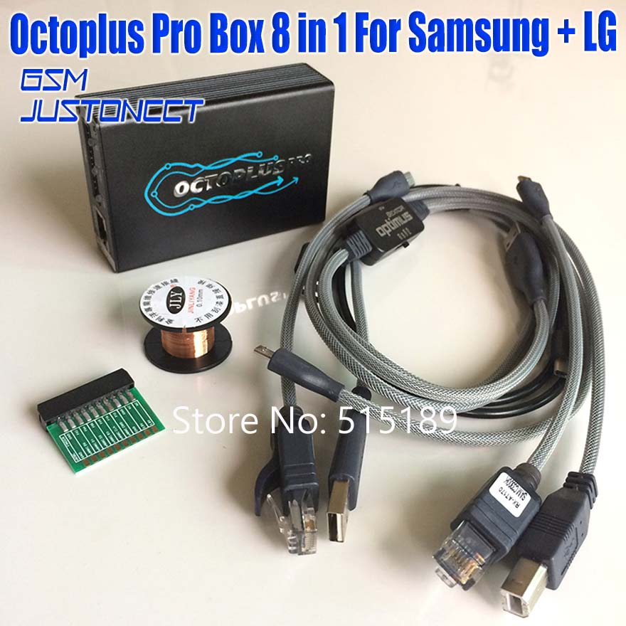 Neue Version Original octoplus Pro box 8 in 1 satz (5 Kabel + eMMC/JTAG Aktiviert + kupfer draht) für Samsung für LG aktiviert
