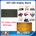Free shipping Waterproof P10 outdoor LED advertising display screen module with control card data cable magnets etc. diy kits