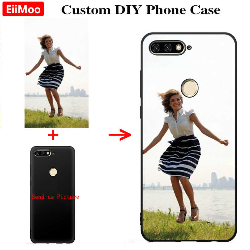 EiiMoo Custom Photo Phone Case For Huawei Y6 Y5 Y7 Y9 Prime 2018 Cover Personalised Silicone For Huawei Nova 5 4 3 i Pro 2019
