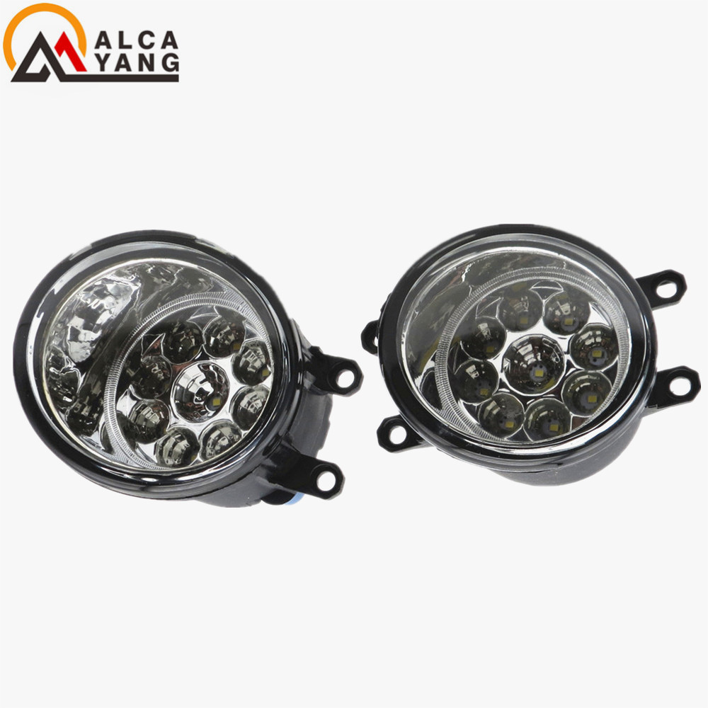 Malcayang Angel Eyes Front bumper Fog Lights fog lamps 1 set (Left + right) For toyota AURIS 2007+  car styling 2 pcs set car styling front bumper light fog lamps for toyota avensis 2003 2009 fog lights left right 81210 06052
