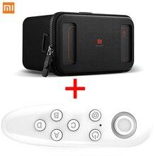 Дешевые Сяо Mi VR оригинальный Ми Box виртуальной реальности с пульта дистанционного управления 3D погружения гарнитура картон для 4.7-5.7 дюймов телефон
