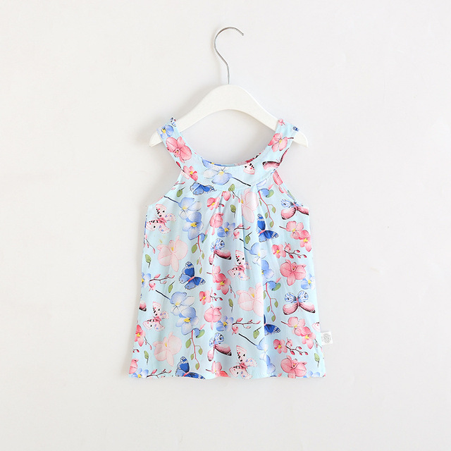 2019 Hot Summer Baby Girl Dress Sleeveless Floral Dress Small Fresh Sweet Style Kids Clothes 2-8 Years