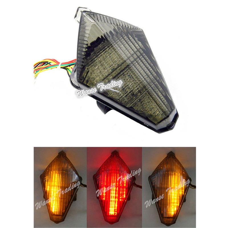 waase For Yamaha YZF R1 2007 2008 Rear Tail Light Brake Turn Signals Integrated LED Lightwaase For Yamaha YZF R1 2007 2008 Rear Tail Light Brake Turn Signals Integrated LED Light
