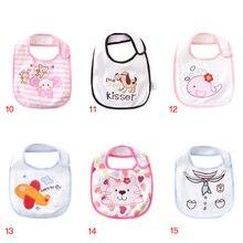 Одежда с рисунком для детей, детские девушки тканевый слюнявчик, комплект для новорожденных, детский комбинезон, детская одежда для девочек Одежда для маленьких нагрудник для мальчика хлопковые многоразовые мальчиков Слюнявчики 5 шт./лот H-KBL024-5P
