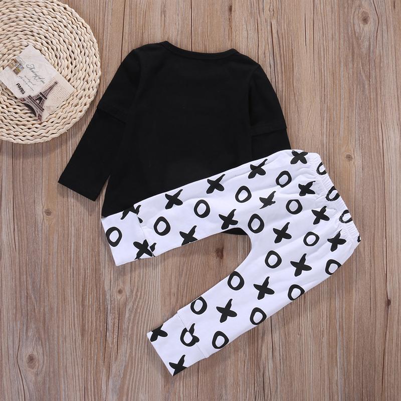 2pcs Newborn Baby Boys Clothes Set Gold Letter MAMAS BOY Outfit T-shirt Pants Kids Autumn Long Sleeve Tops Baby Boy Clothes Set 5