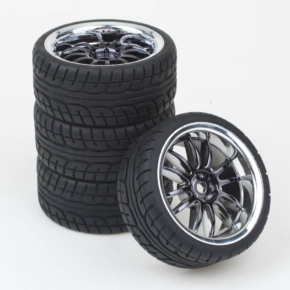 4pcs rc 1 10 car on road wheel rim rubber tyre tires fit hsp hpi 9068 6081 free shipping in. Black Bedroom Furniture Sets. Home Design Ideas