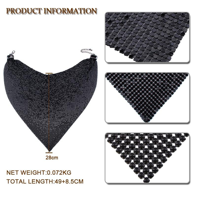 Vedawas moda 3 colores triángulo forma bufanda BiB declaración ...
