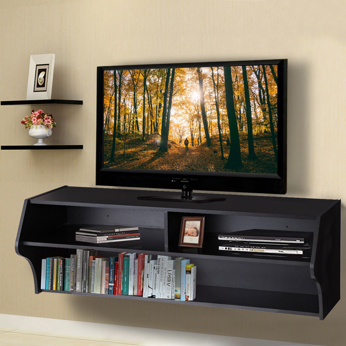 Giantex 48 5 Quot Wall Mounted Audio Video Tv Stands Modern