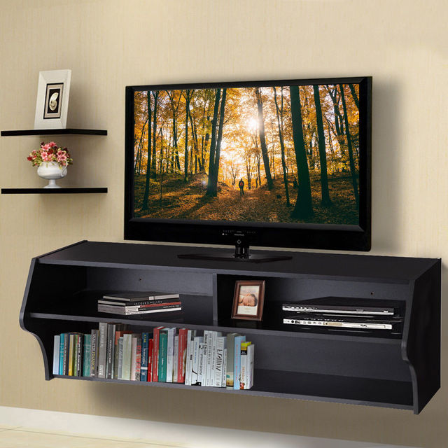 console living room. Giantex 48 5  Wall Mounted Audio Video TV Stands Modern Console Living Room Furniture With