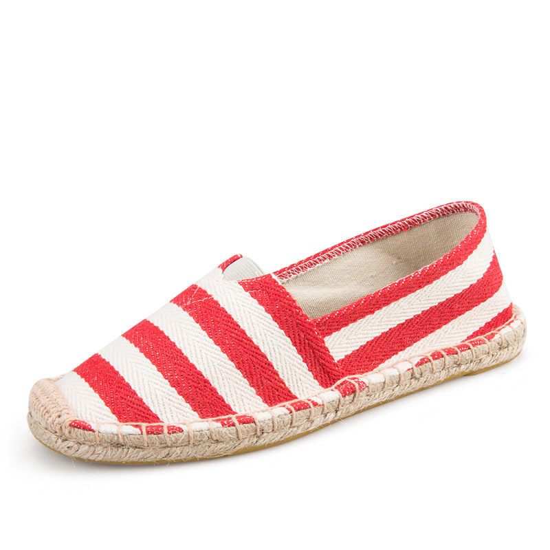 New hot spring summer women flats high quality comfortable patchwork slip on stripe female casual fashion canvas shoes 20 colors new hot spring summer high quality fashion trend simple classic solid pleated flats casual pointed toe women office boat shoes