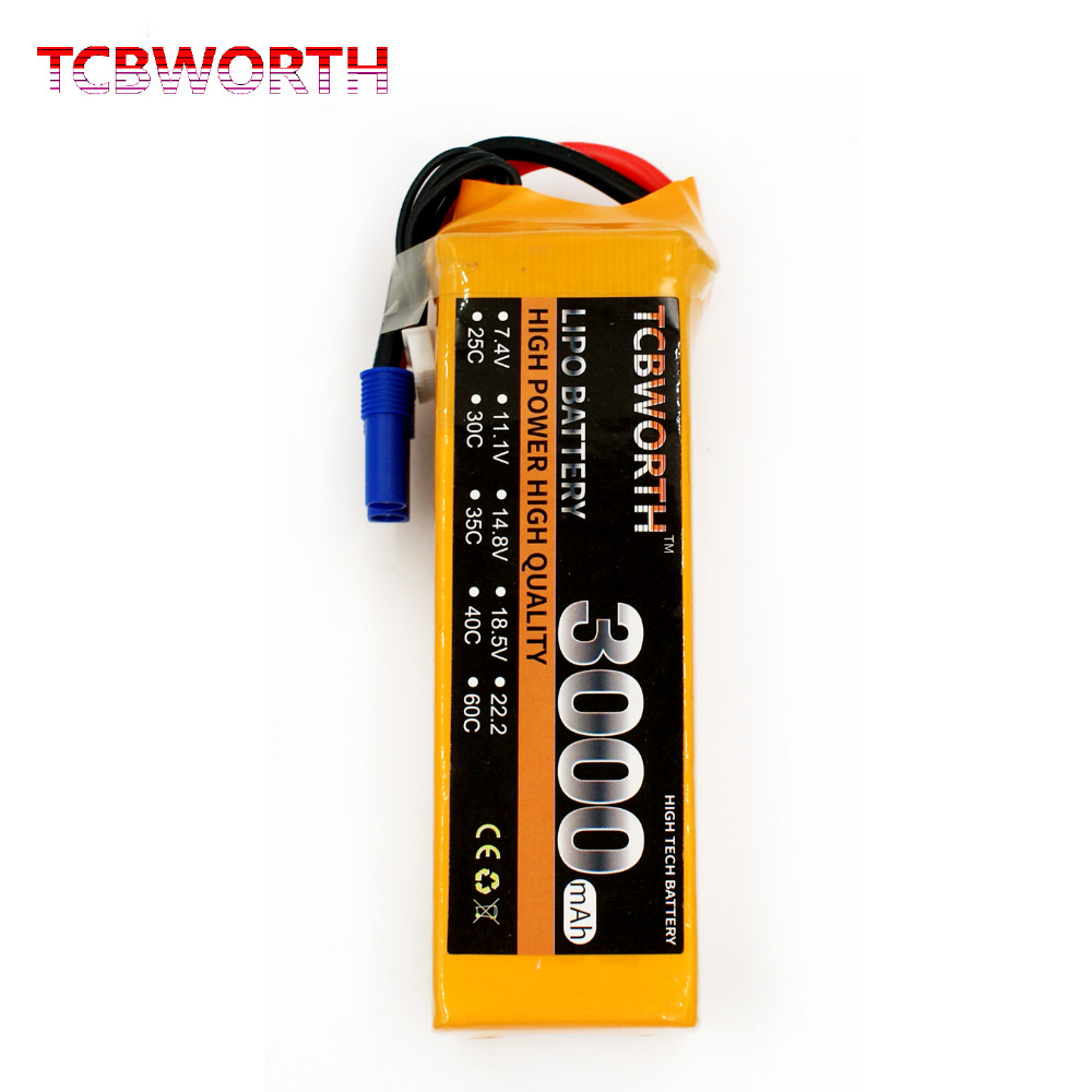 TCBWORTH 6S 22.2V 3000mAh 30C RC Helicopter LiPo battery For RC Airplane Quadrotor Drone Truck AKKU Li-ion battery