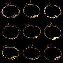 Классический браслет со знаком бесконечности из нержавеющей стали, модный браслет талисман, женские модные вечерние ювелирные изделия, несколько стилей