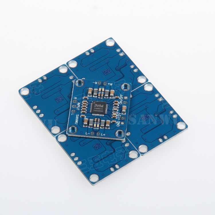 Pam8610デジタルパワーアンプボードステレオ2チャンネル高パワーアンプボードsanwu 2 × 15ワットブティック