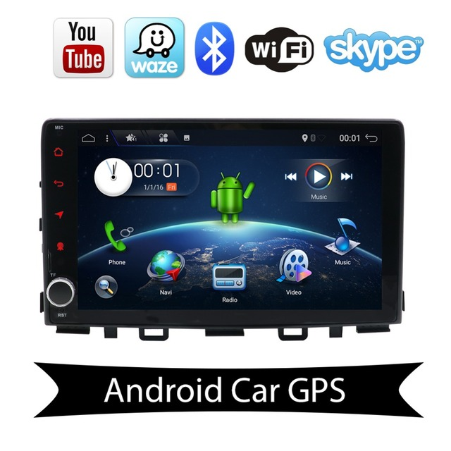 "1DIN In Dash Car DVD Player 9"" Android 7.1 Quad Core GPS Navigation for Kia Rio 2017 2018 DVD Radio Multimedia Head Unit Stereo"