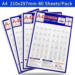 Image 5 - A4 Sticker Paper Label Sheets  for inkjet / Laser Printer /Copier, Matt/Gloss kraft Surface, 80 Sheets Per Pack