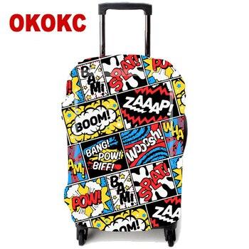 0dd4080af71e OKOKC граффити Эластичный толстый багаж защитный чехол для 18-32 дюймов  тележка чемодан защита пылезащитный чехол, дорожные аксессуары