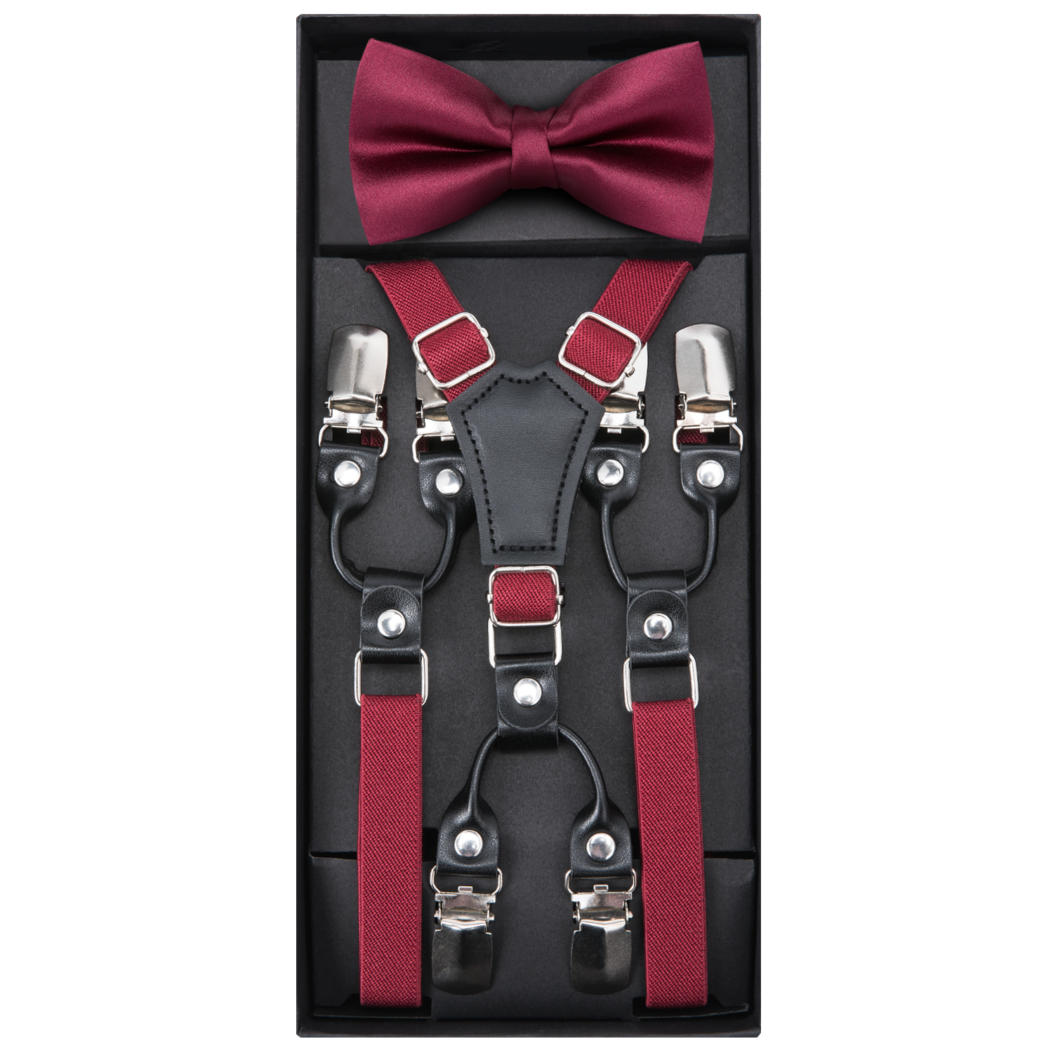 Image 3 - DiBanGu Lovely Children Soild Suspenders With Bowtie Set Polyester Butterfly Kids Y Back Braces Belt Bow Tie Adjustable BH 0018-in Suspenders from Mother & Kids