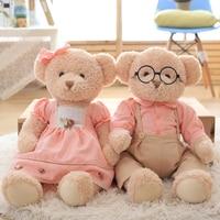 65CM 1Pair Love Bear Plush Toy Teddy Bears Stuffed Bears Couples Good Quality Selling Toys Birthday