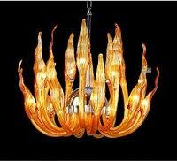 Italy Murano Glass Chandeliers Light Modern Flame Chandelier Light Creative Art Glass chandelier Light (15 Head) Free shipping