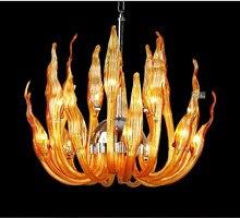 Италия Муранского Стекла Люстры Свет Современный Пламени Люстра Творческий Художественное Стекло люстра (15 Глава) Бесплатная доставка