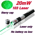 [RedStar]103 20mw 103 Green Red Laser pen  AAA 7# Battery laser pointer Starry image cap Laser only without Retail Metal box