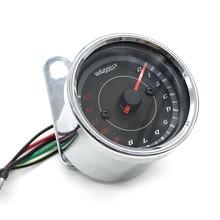 WUPP 1000 RPM universal motorcycle tachometer LED Screen DC 12V Meter Gauge 13K Speedometer