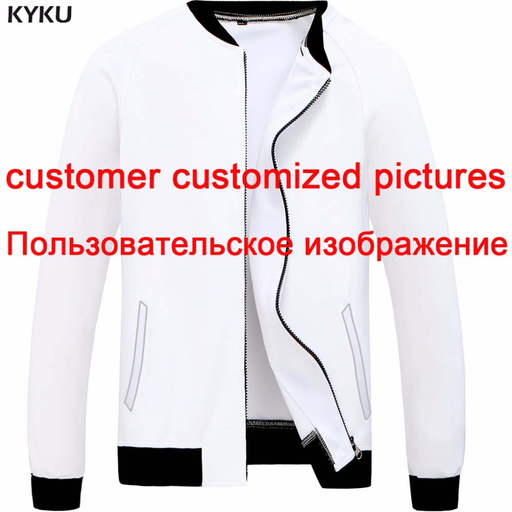 KYKU Model Customise Jacket Males Customized Photos Jackets M-6XL 3d Print Coat Cool Mens Clothes DIY New 2018 Jackets, Low-cost Jackets, KYKU Model Customise Jacket Males Customized Photos Jackets...