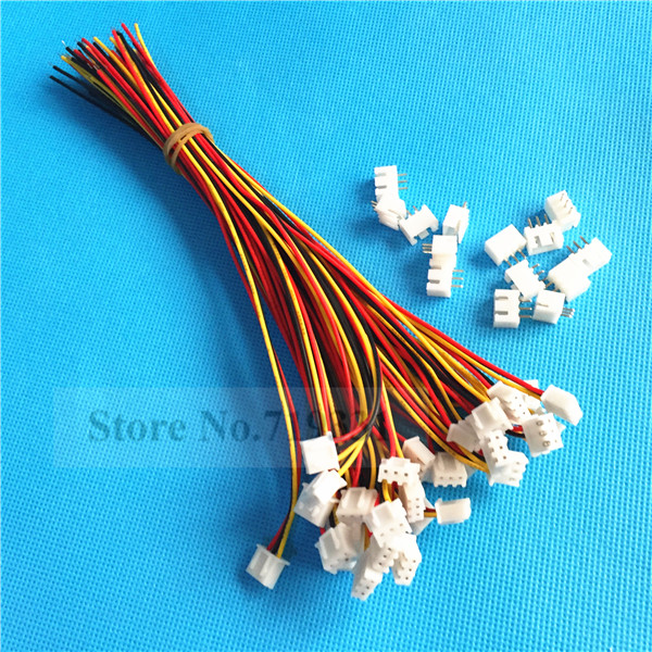 50Sets XH2.54 Single-Head 3Pin 3Way Wire To Board Connector With Socket ...