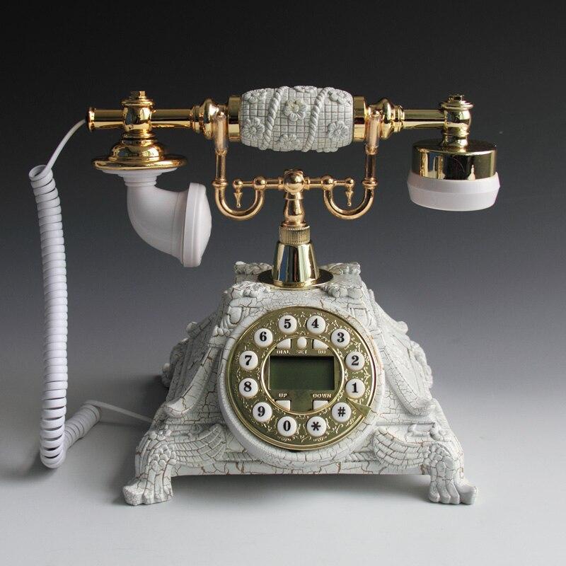 White European Fashion Vintage Swivel Plate Telephone Antique Telephone Landline Office Phone Home