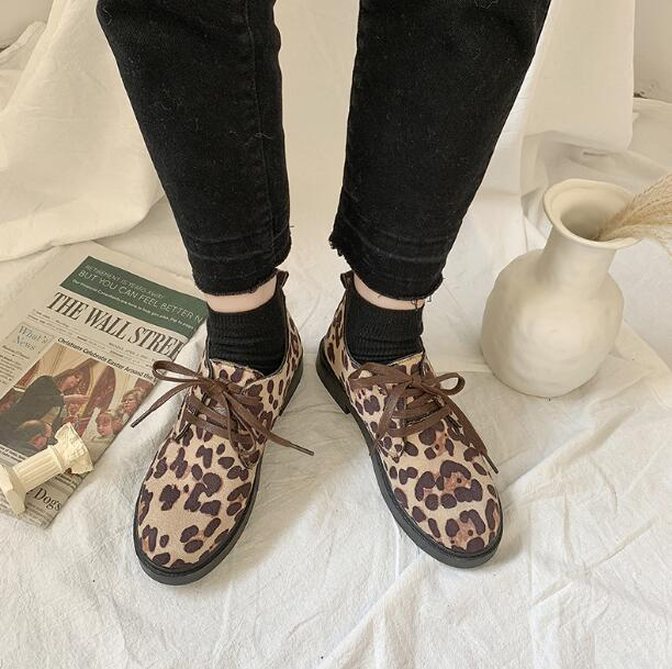 XDA2019 new style Faux Suede single Shoes Woman Platform Oxfords British Style Flat Casual Lace-up fashion Women Shoes E59 3