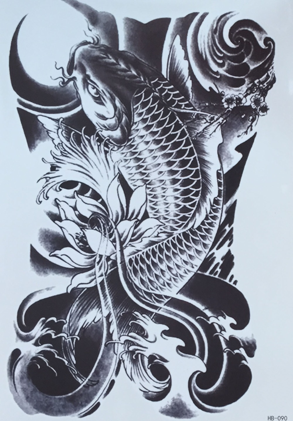 Worksheet. Brazo tatuajes temporales del tatuaje pegatinas peces grandes
